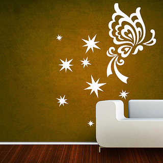 Creatick Studio ButterFly Sparkles Wall Sticker(17x22Inch)