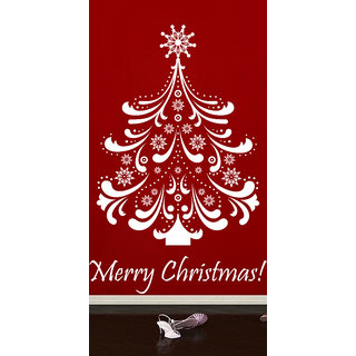 Creatick Studio Christams Tree Wall Sticker(28x44Inch)