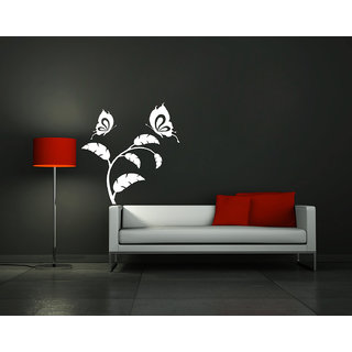 Creatick Studio ButterFly Swings On Branch Wall Sticker(17x19Inch)