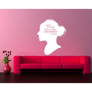 Creatick Studio Quiet People Have Loudest Minds Wall Sticker(16x22Inch)