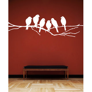 Creatick Studio Birds Branch Wall Sticker(24x7Inch)
