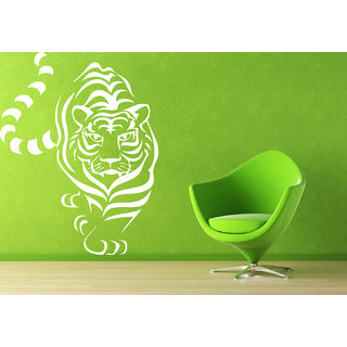 Creatick Studio Tiger Line Art Wall Sticker(16x20Inch)