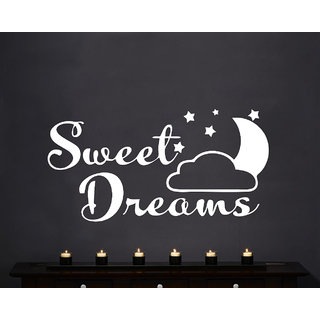 Creatick Studio Sweet Dream Wall Sticker(54x27Inch)