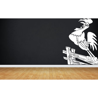 Creatick Studio Cock Wall Sticker(21x32Inch)
