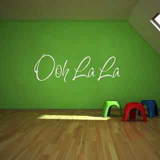 Creatick Studio Ooh La La Wall Sticker(28x8Inch)