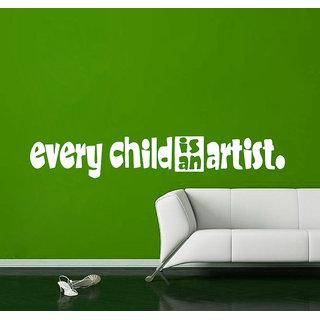Creatick Studio Child Artist Quote Wall Sticker(57x9Inch)