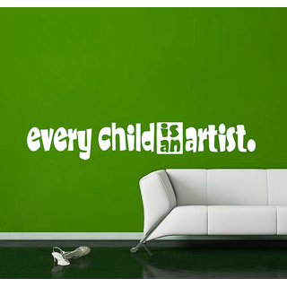 Creatick Studio Child Artist Quote Wall Sticker(87x14Inch)