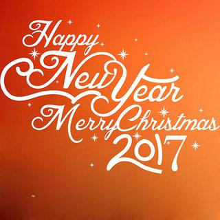 Creatick Studio Happy New Year Wall Sticker(30x21Inch)