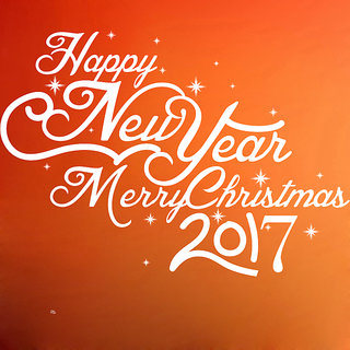 Creatick Studio Happy New Year Wall Sticker(37x26Inch)