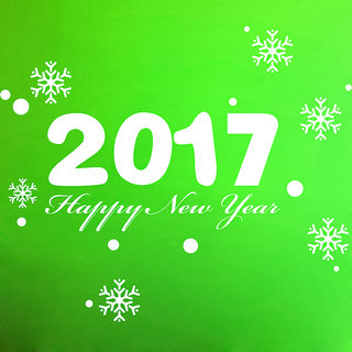 Creatick Studio New Year 2016 Wall Sticker(27x23Inch)