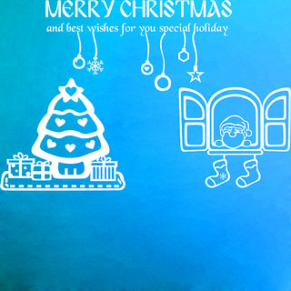 Creatick Studio Merry Christmas Wall Sticker(25x16Inch)