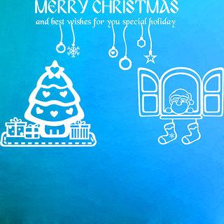 Creatick Studio Merry Christmas Wall Sticker(38x25Inch)