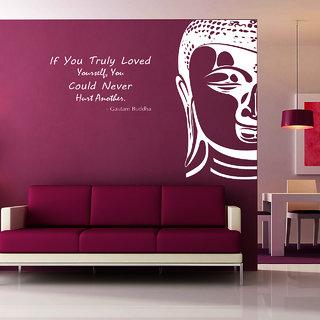 Creatick Studio Buddha Wall Sticker(32x27Inch)