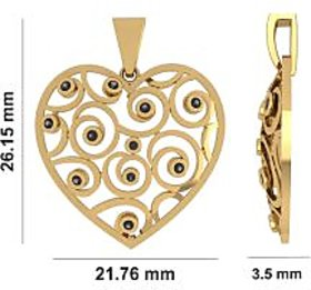 The Sweetheart Gold  Pendant With Natural Diamond