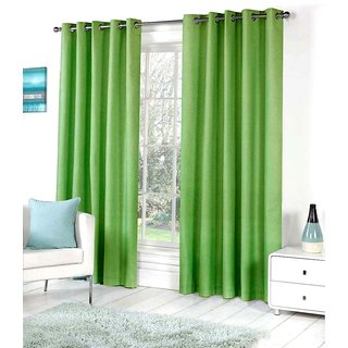 Living Creation Royal Pack of 1 Plain Green Door Curtain