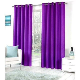 Living Creation Royal Pack of 1 Plain Purple Door Curtain
