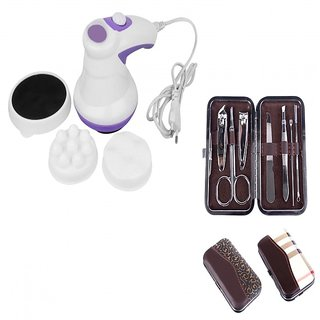 COMBO OF TWO-    MANIPOL/RELAX TONE BODY MASSAGER AND 7 IN 1 MANICURE SET.........