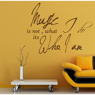 Creatick Studio  Music Is Not Who I Am Wall Sticker  (19x14Inch)