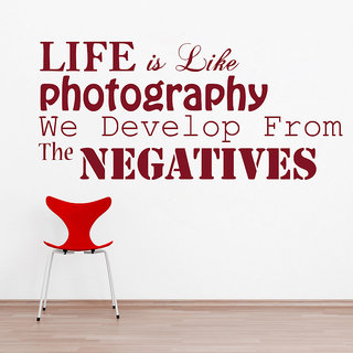 Creatick Studio  Life is Photography Wall sticker(29x13Inch)