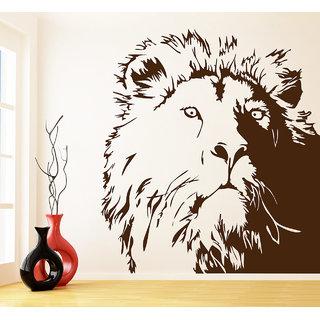 Creatick Studio  Lion Wall Sticker  (38x42Inch)