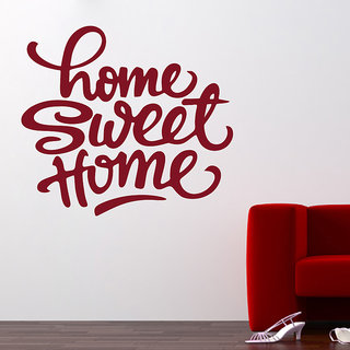 Creatick Studio  Sweet Home Quote Wall sticker(20x18Inch)