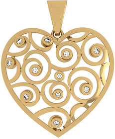 The Sweetheart Gold  Pendant With Black Diamond