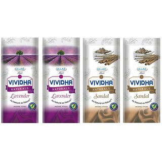 Ullas Vividha Mix Fragrances 175 G Pouch Set of 4 Pouches (2 Different Fragrances)
