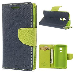New Mercury Goospery Fancy Wallet Flip Case Back Cover for  iPhone 5G (Blue )