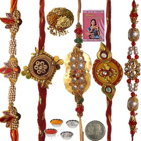 Five Trendy Handcrafted Rakhi Set Gift to Brother 151