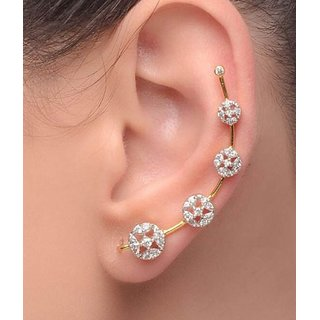 Penny Jewels American Diamond Alloy Cuff Earring Set