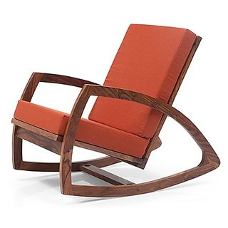 Altavista Wag Rocking Chair  (Mahogany  Teak Finish)