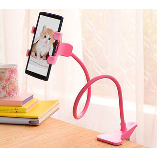superman Universal Flexible Long Arms Mobile Phone Holder Desktop Bed Lazy Bracket Mobile Stand - Pink