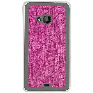 Casotec Retro Style Soft TPU Leather Back Case Cover for Microsoft Lumia 535 - Pink