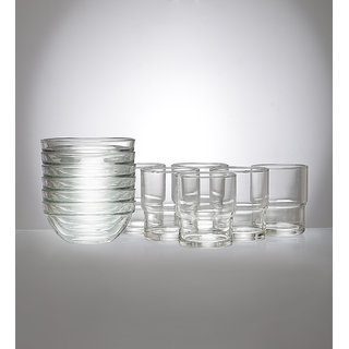 Ocean Happy Moment 12-piece Glass and Bowl Set