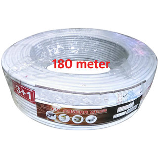 CCTV Wire Roll(3+1) Copper  (180 Meters)