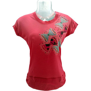 Mithraa Women RoundNeck Lace Top