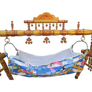 Baby Cradle Wooden Baby Cradle Folding Cradle Baby Swing Hastakala Bazaar