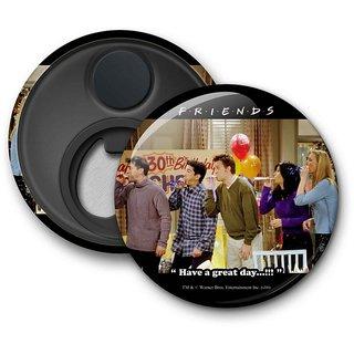 Official Friends - Happy Birthday Rachel Fridge Magnet licensed by Warner Bros