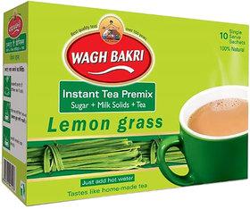 Wagh Bakri Instant Lemon Grass Premix Carton Tea Pack - 140 gm (Added Sugar)