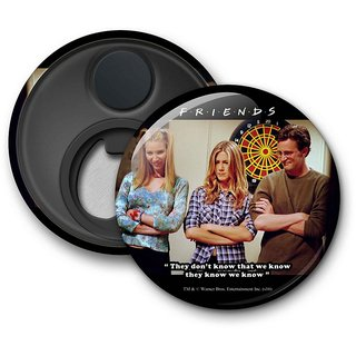 Official Friends - They know We know Fridge Magnet licensed by Warner Bros