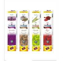 Ullas Vividha Mix 100 Sticks Mix Fragrances Box, Set Of 4 Box (4 Different Fragrances)