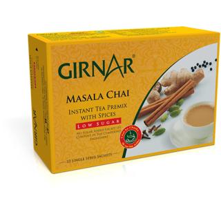 Girnar Instant Tea Premix With Masala (Low Sugar - 10 Sachets)