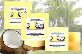 Abeers Pure Essence Coconut Almond Soap (Set Of 3)