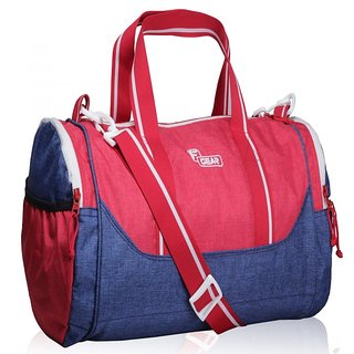 3882841c2d F Gear America 25 Liters Small Gym Duffle Bag(Blue Red)