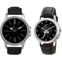Jack Klein Combo Of Leather Strap Round Dial Elegant Analog Wrist Watches For Men
