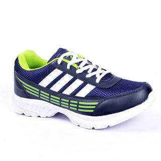 Foot 'n' Style Comfortable Green & Blue Sports Shoes (fs439)