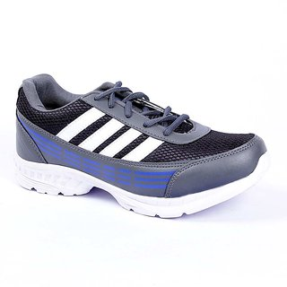 Foot 'n' Style Comfortable Grey & Blue Sports Shoes (fs441)