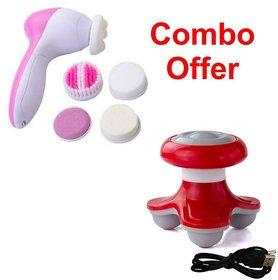 Deemark 5 in 1 Beauty Full Body Massager with Mini massager Combo pack