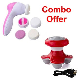 Deemark 5 in 1 Beauty massager with Mini massager Combo pack