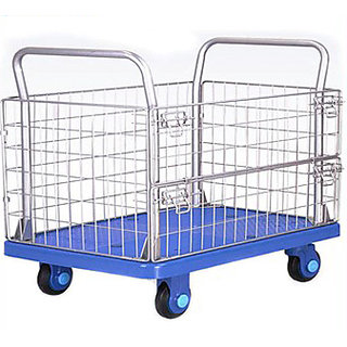 SK ENGINERING  Plastic Transport Trolley With Mesh 300kg